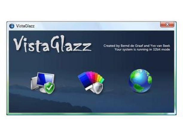 Систем Windows XP,Vista,7.VistaGlazz - приложение,которое поможет.